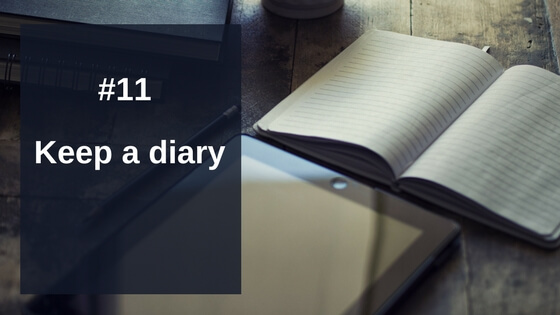 Keep a diary to support your personal injury claim
