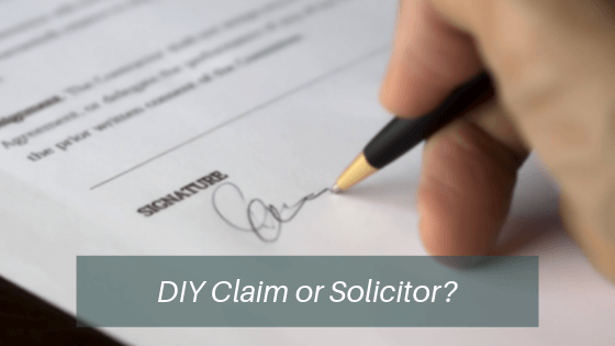 DIY personal injury claim or solicitor?